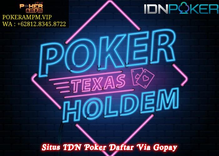 Situs IDN Poker Daftar Via Gopay
